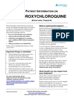 Patient Infornation on Hydroxychloroquine