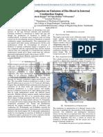 Mathematical Investigation on Emission of Bio Diesel in Internal Combustion Engine