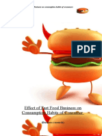 Effect of Fast Food Business on Consumption Habits of Consumer