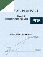 Materi 2. Metode Pengamatan Beda Tinggi (4)