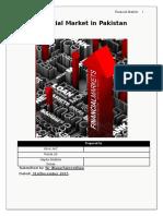 Report on Finacial Market in Pakistan