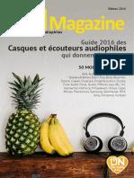 ON Magazine - Guide casques et écouteurs audiophiles 2016