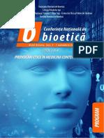 Conferinta de Bioetica Iasi Program
