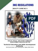 TR Beauty Care NC II