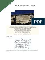 Selección de Inscripciones Latinas