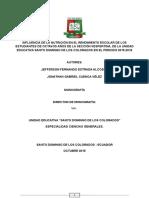 Monografia Influencia de La Nutricion y El Rendimiento Escolar
