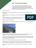 Roofing Market Report - UK 2015-2019 Analysis -
