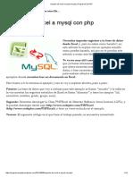 Importar de Excel a Mysql Con Php _ Programar en PHP
