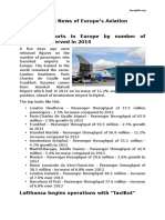 Aeroglob - 24 Februarie 2015 - Recent News of Europe's Aviation