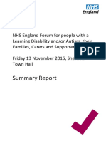 Full Report Learning Disability Engagement Meeting