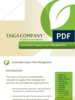 Sustainablilit in Supply Chain Management