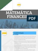 Matemática financeira - subtotais