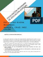Divulgación Programa de Educación Especial 2016