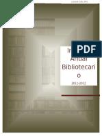 Informe Anual Final Del Bibliotecario 2011-2012