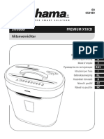 HAMA Premium X10CD_tocator de Hartie_shredder