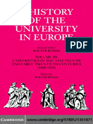 A History Of The University In Europe Vol Iiicambridge