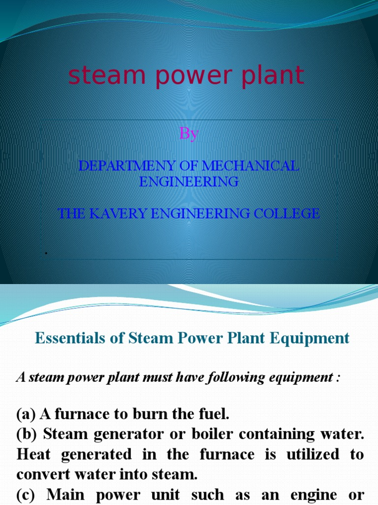 steam power plant and boilers.pptx | Boiler | Steam
