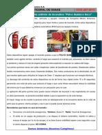 Charla Integral SSSE 297 Conociendo Al Agente Extintor de Incendios Polvo Quimico Seco