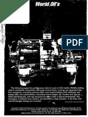 1998 World Oil Rig Fleet