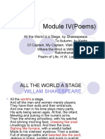 1.Module IV(Poems)