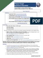 Peace Corps Pre-Departure Checklist