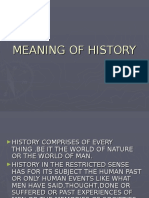 History Meaning & Methodolgy