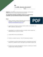 """Guía para el Alumno Actividad """"Los MMC"""
