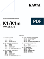 Kawai K1 Wave List