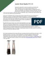 Calentador A Gas Saunier Duval Opalia TF 11 E