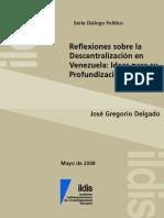 Desconcentracion y Descentralizacion