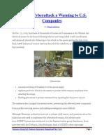 Ukraine Cyberattack a Warning to U.S. Companies By FLoyd Arthur PDF