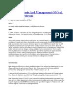 Etiopathogenesis and Management of Oral Submucous Fibrosis