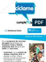 Programa de Reciclaje KCC y Aldeas Infantiles SOS