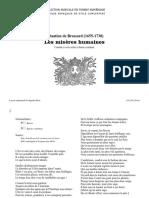 Les misères humaines, SdB. 75 / Sébastien de Brossard