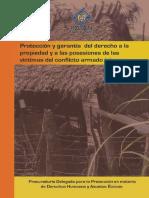 proteccion y Garantia Del Derecho a La Propiedad y a Las Posesiones de La Victimas Del Conflicto Armado Interno