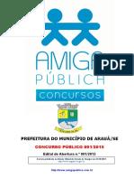 Edital Concurso Arauá
