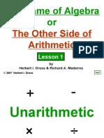 Algebra 1 and Arithmetic