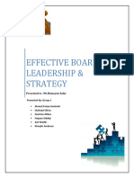 Effective Board Leadership & Strategy