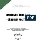 Eminescu Interzis. Gandirea Politica (PDF)