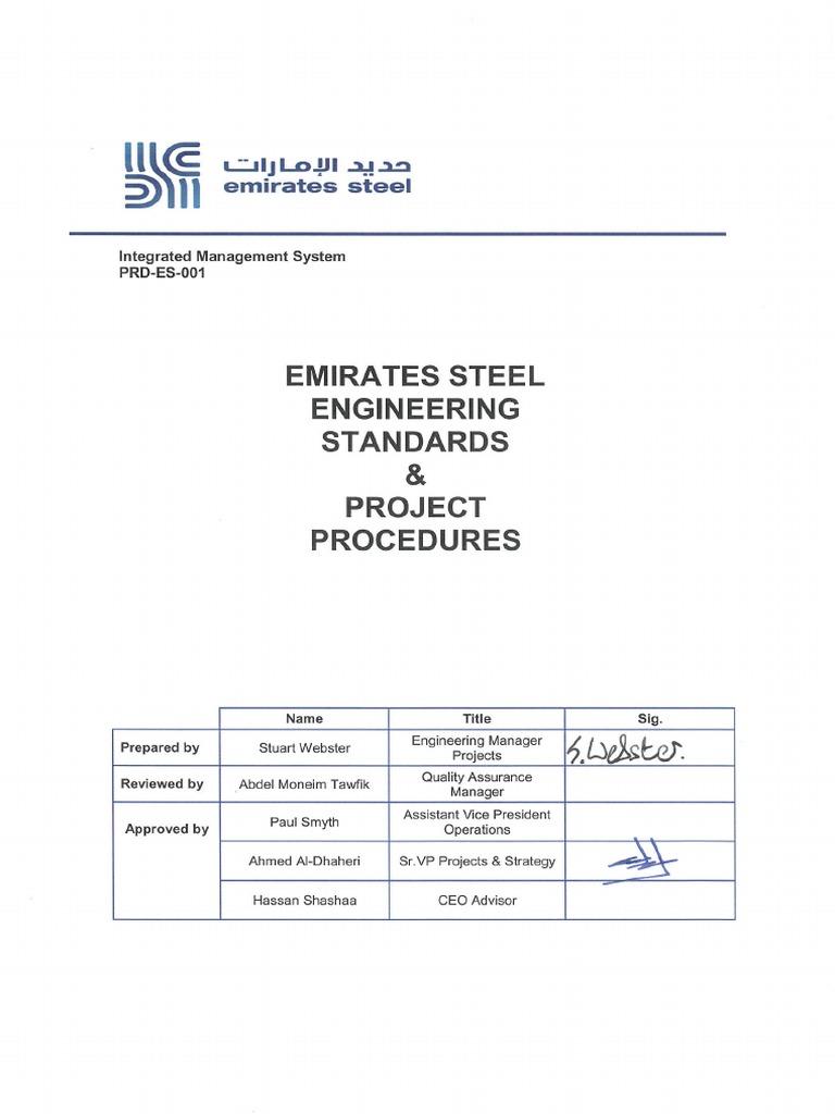 PRD-ES-001 - Eng'g Standard Pro - R2 | Pipe (Fluid