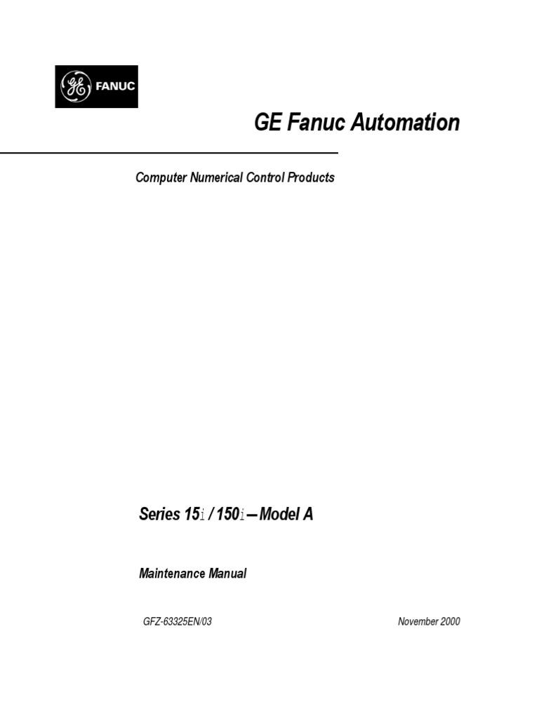 CNC Manuel de Maintenance 15i 150i ModelA   Numerical Control