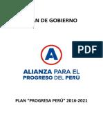 Plan de Gobierno de César Acuña