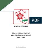 Plan de Gobierno de Alan García