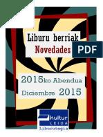 2015eko abenduko liburu berriak -- Novedades de diciembre de 2015