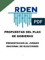 Plan de Gobierno de Ántero Flores