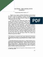 Reparations- The Legislative Agenda* Congressman John Conyers, Jr.**