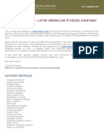 CFP - Latin American Language, Literature, and Culture