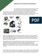 Pasos Para El Mantenimiento Precautorio Del Hardware.