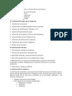 Componentes Del Estudio o Informe Técnico Económico del decreto 29-89