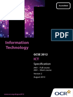 ICT OCR Specification